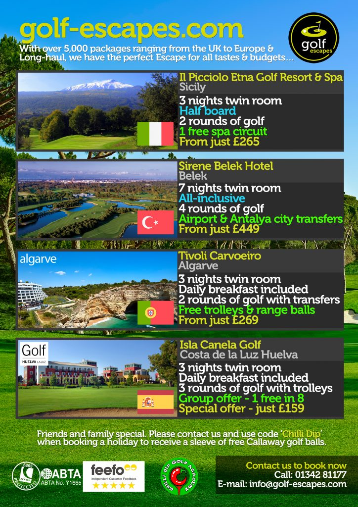 November Golf Escapes