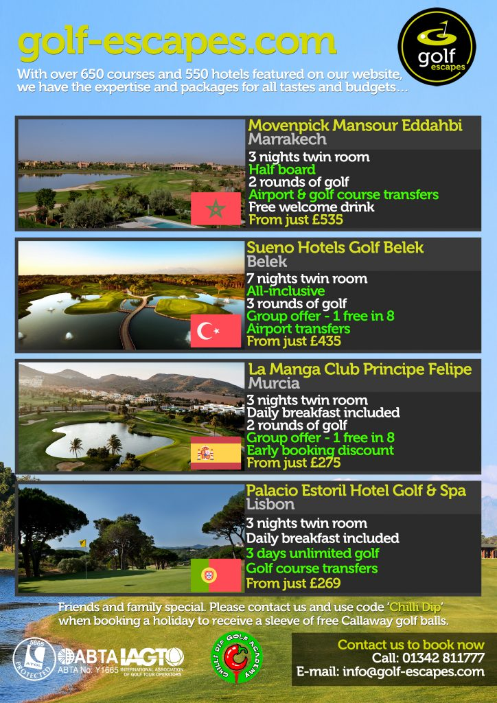 Golf Escapes for May