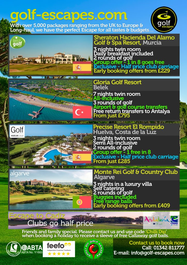 September Golf Escapes with Chilli Dip Golf Academy